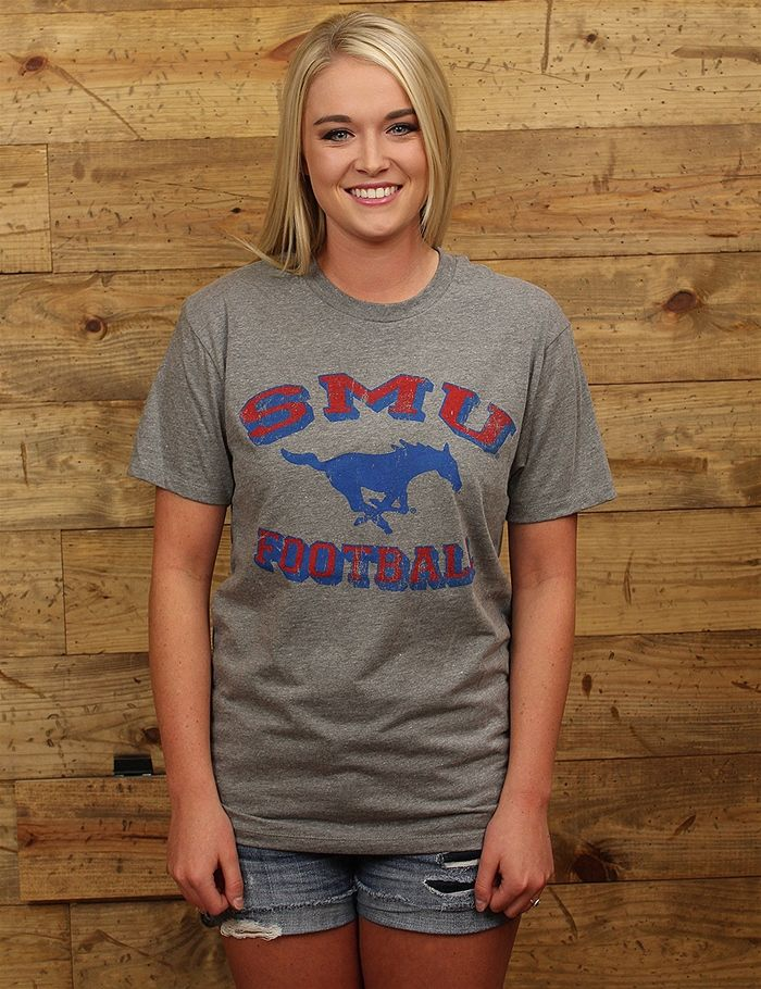 Hey Southen Methodist- gear up for Mustang football season in this vintage tee!