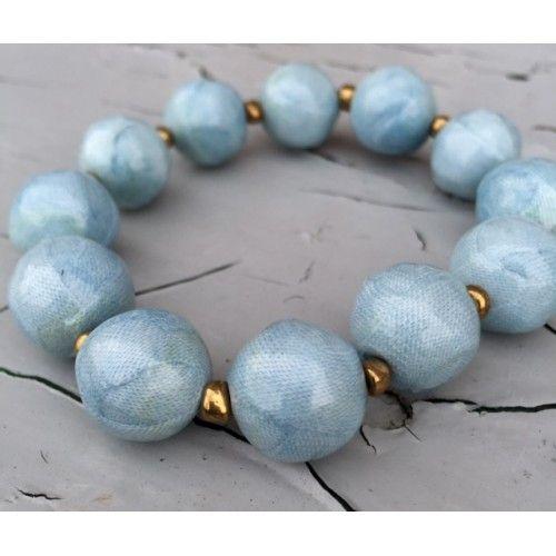 Classic Fabric Bead Bracelet by Haiti Design Co-op from Haiti