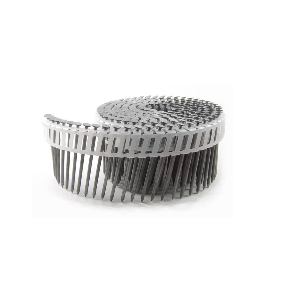 B C Eagle 2 1 2 In X 0 092 Mini Coil Hd Galvanized Smooth Shank Framing And Siding Nails 800 Per Box A212x092hdpc Stainless Steel Rings Shank Mini