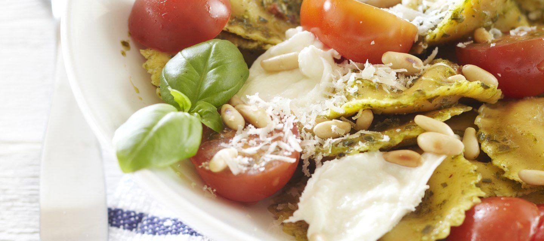 Pesto-mozzarellapasta