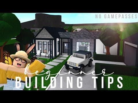 Bloxburg Beginner Building Tips No Gamepasses Youtube