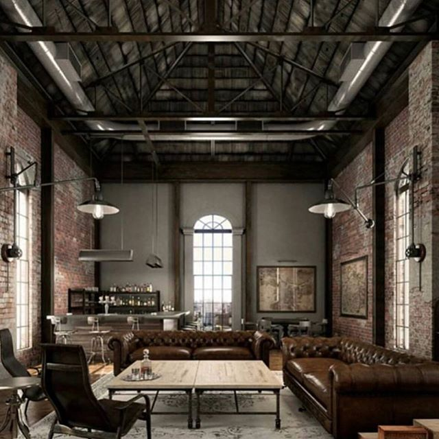 Love This Masculine Loft Space Via Cocoleafurniture