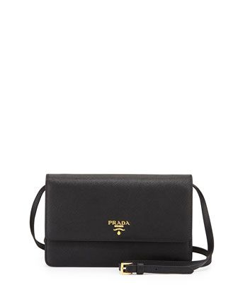 791a5b6d45c Saffiano Mini Crossbody Bag, Black (Nero) by Prada at Bergdorf Goodman.
