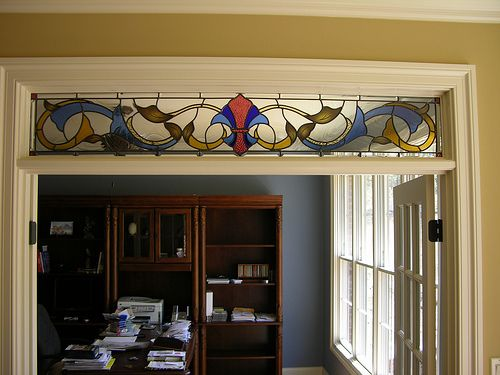 TN stained glass window in a Knoxville residence