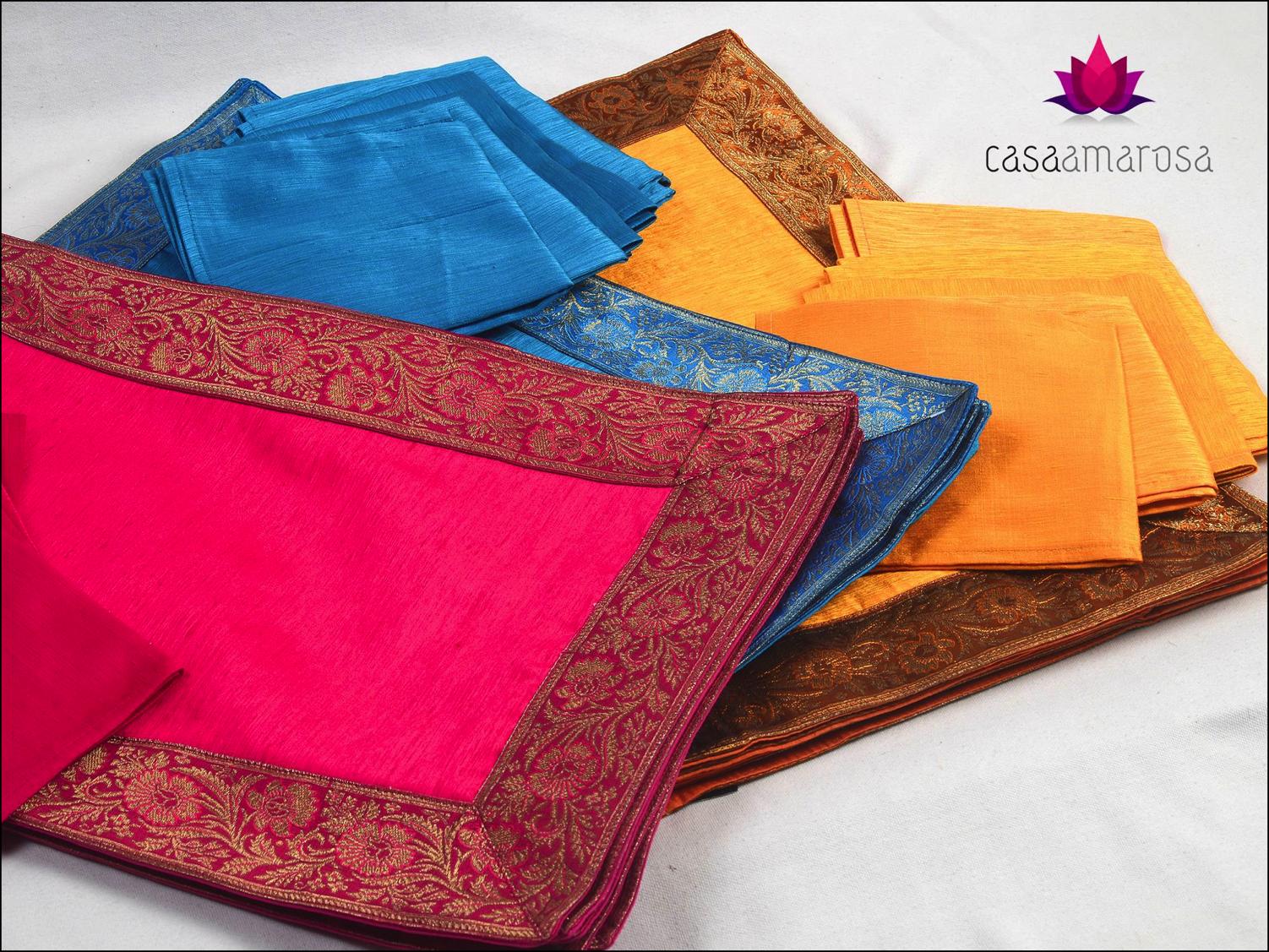Brocade Home Decor indian silk table matscasa amarosa home decor india
