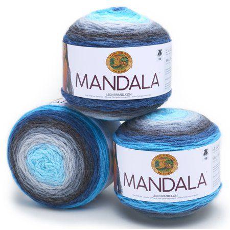 Lion Brand Yarn Mandala Classic Novelty Yarn, Pack of 3 - Walmart.com