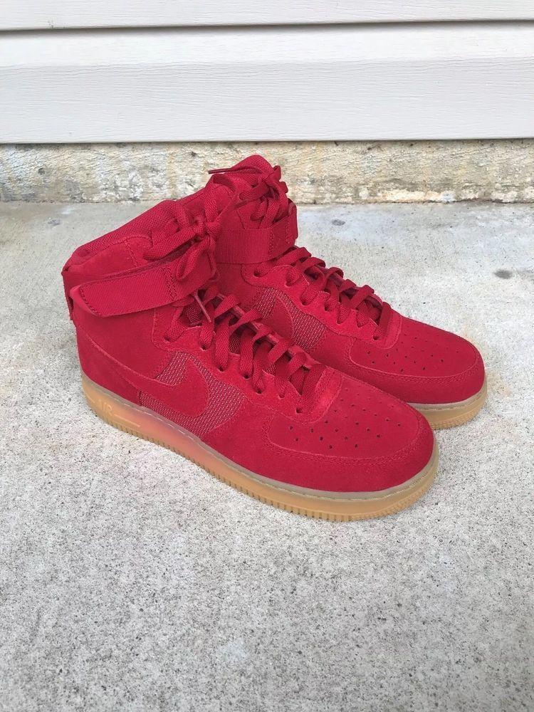 5b69261c6d6b Nike Air force 1 High  07 LV8 Gym Red Gum Bottom Men s Shoes Size 9 ...