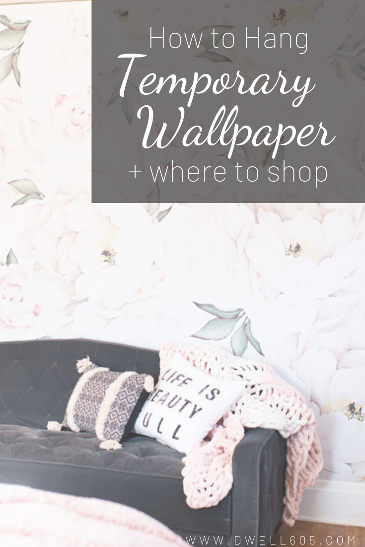 How To Hang Temporary Wallpaper Where To Shop Temporary Wallpaper Stick On Wallpaper Diy Wallpaper