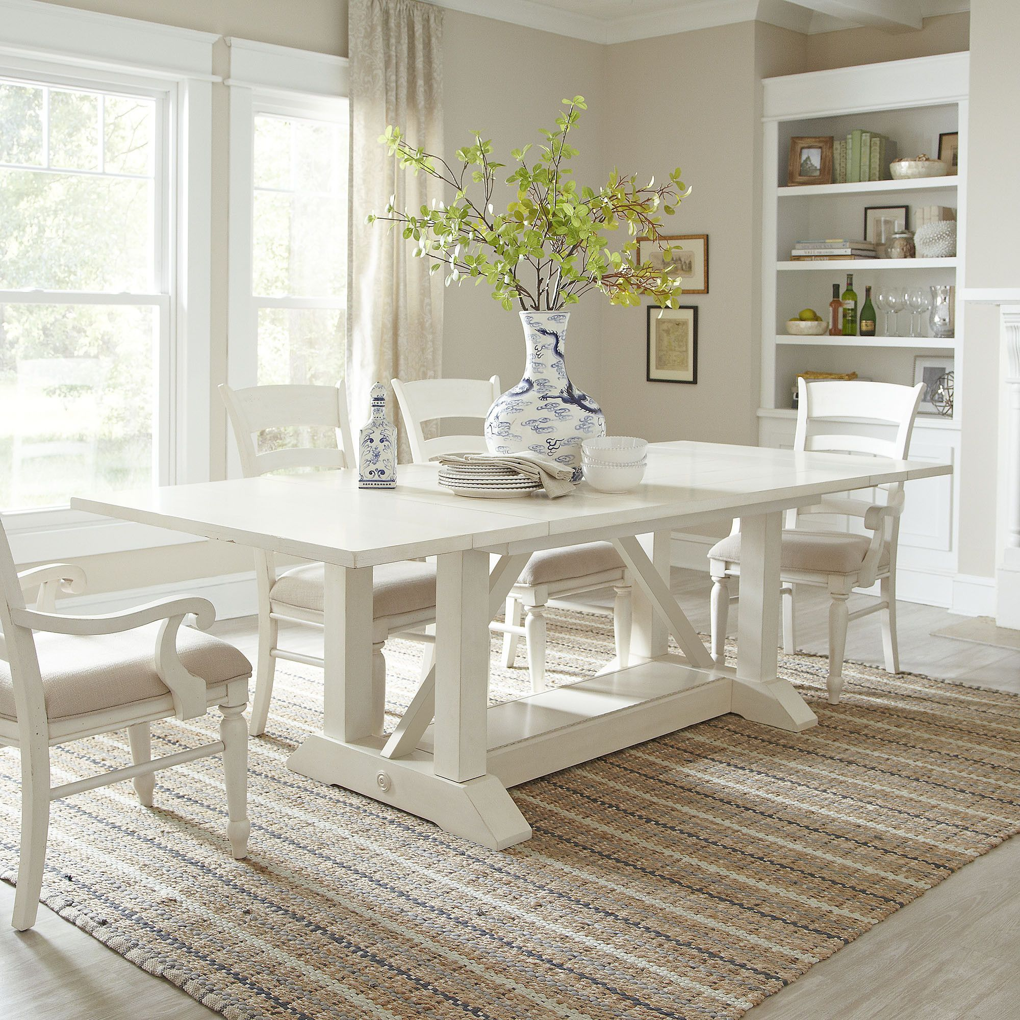 Dining Open To Kitchen Love The White The Island The Dining