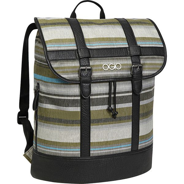 Ogio Emma Laptop Backpack (4.770 RUB) ❤ liked on Polyvore featuring bags, backpacks, green, laptop backpacks, laptop rucksack, draw string backpack, flap backpack, padded backpack and drawstring backpack