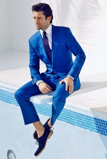 What do you think of this striking blue #Tuxedo ensemble?