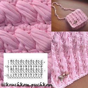 "53 Likes, 2 Comments - Вязание крючком Crochet Tejido (@kruchkom.puchkom) on Instagram: ""Сумочка-клатч из трикотажной пряжи #сумочка #сумка #клатч #сумкаклатч #мода #тркотаж…"""