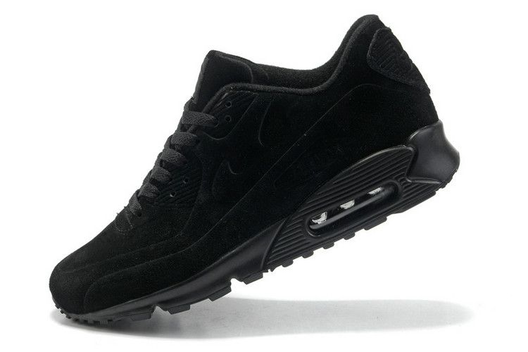 nike air max 90 vt womens running shoes all black