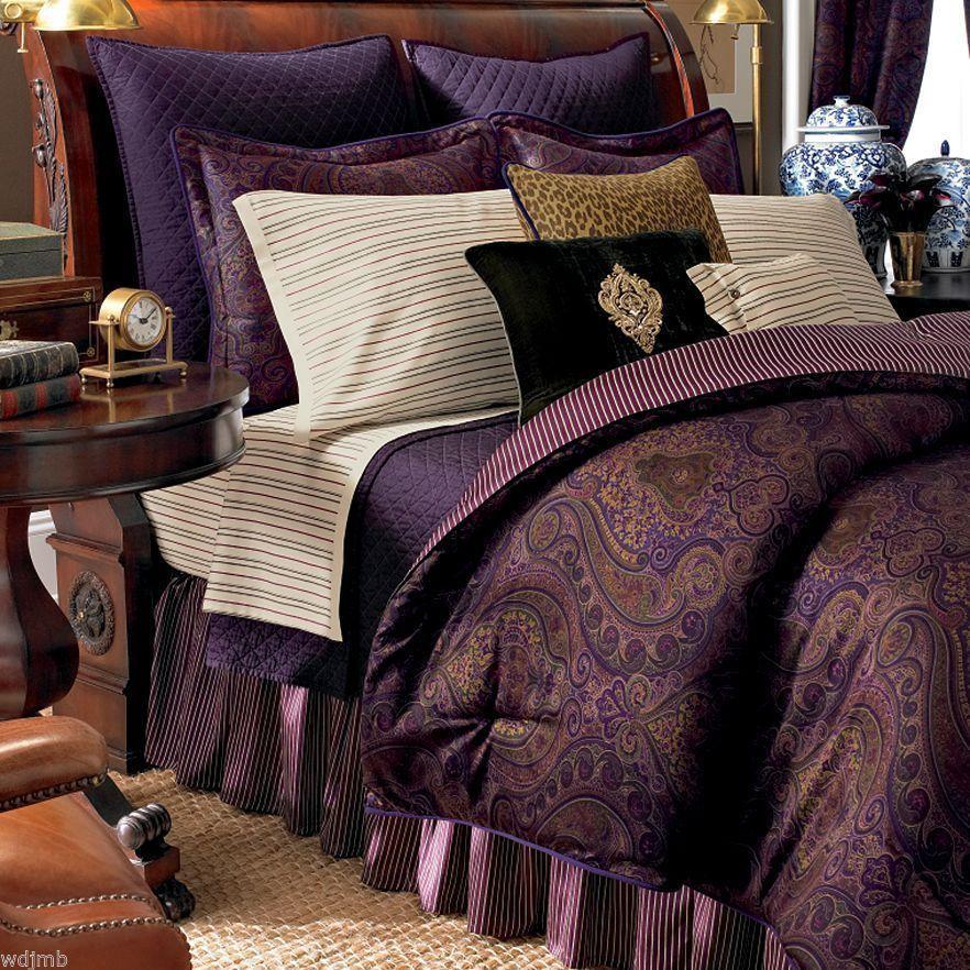 Paisley Bedding Comforter Sets, Jewel Tone Bedding