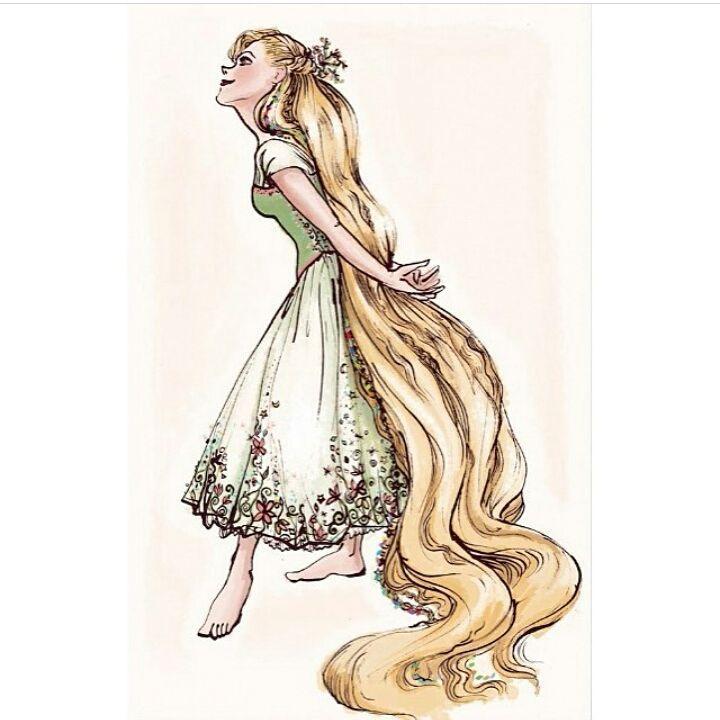 Rapunzel...by @claireonacloud . .  #fanart #disneyfanart #disneyword #disneyfanartshare #officialdisneyart #disneydrawing…