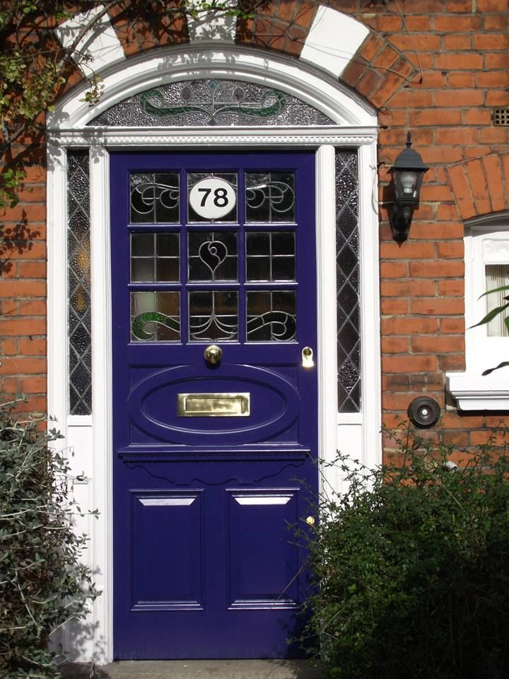 Purple Twenties-style front door by the London Door Company ...