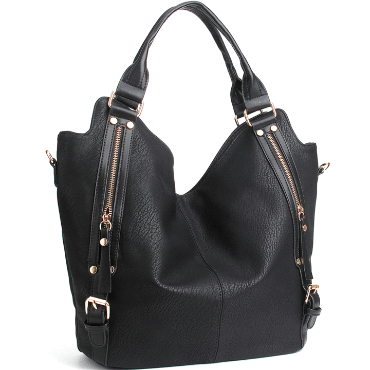 Women Casual Handbags PU Leather Hobo Satchel Top Adjustable Tote Shoulder Bag
