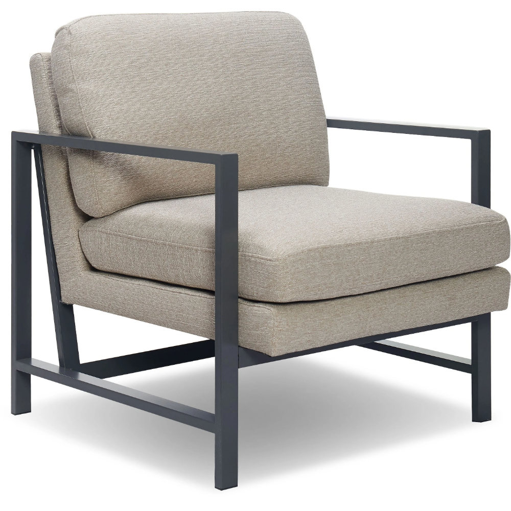 Tommy Hilfiger Russell Metal Frame Accent Chair Grey