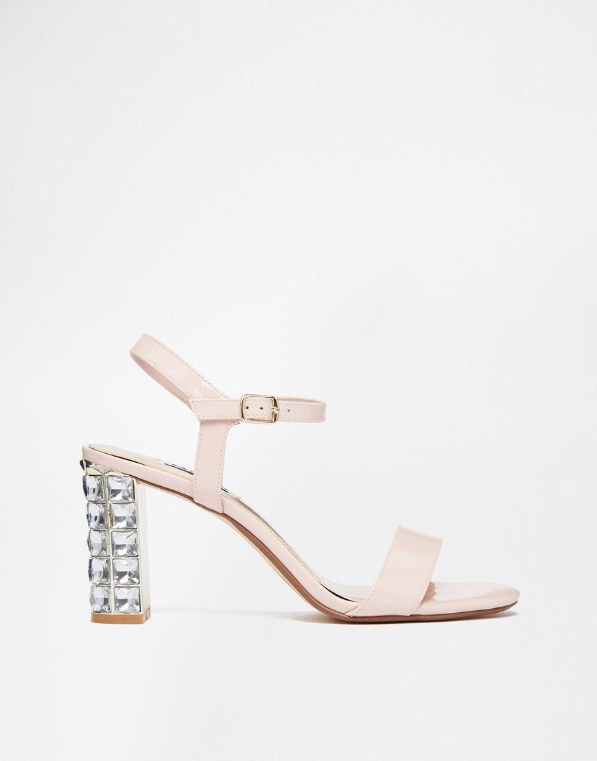 c60b2aa9e5 Image 2 of Dune Maia Patent Embellished Block Heeled Sandals   SHOES ...