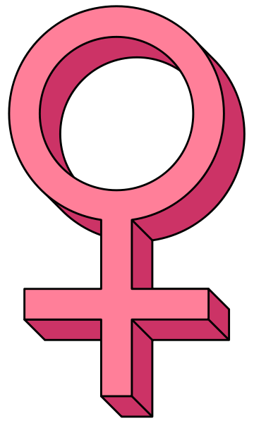Female Hormones Are Not Pink Female Symbol Tumblr Pattern Sticker Sign