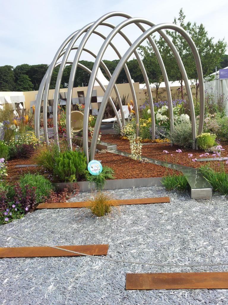 Stainless Steel Arch Pergola Garden Feature