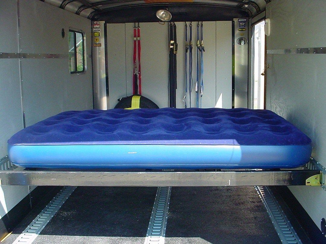 Easy diy enclosed trailer storage ideas 3 enclosed