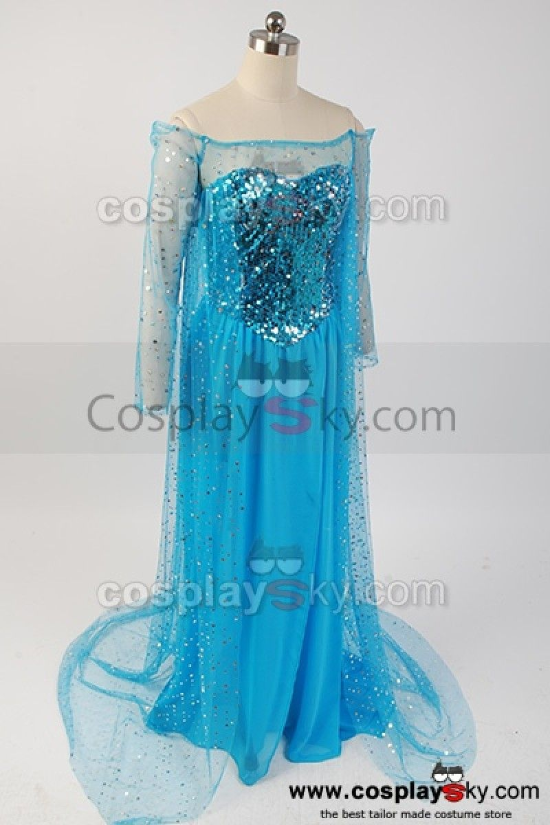 frozen elsa costume | Frozen Snow Queen Elsa Fancy Dress Costume ...