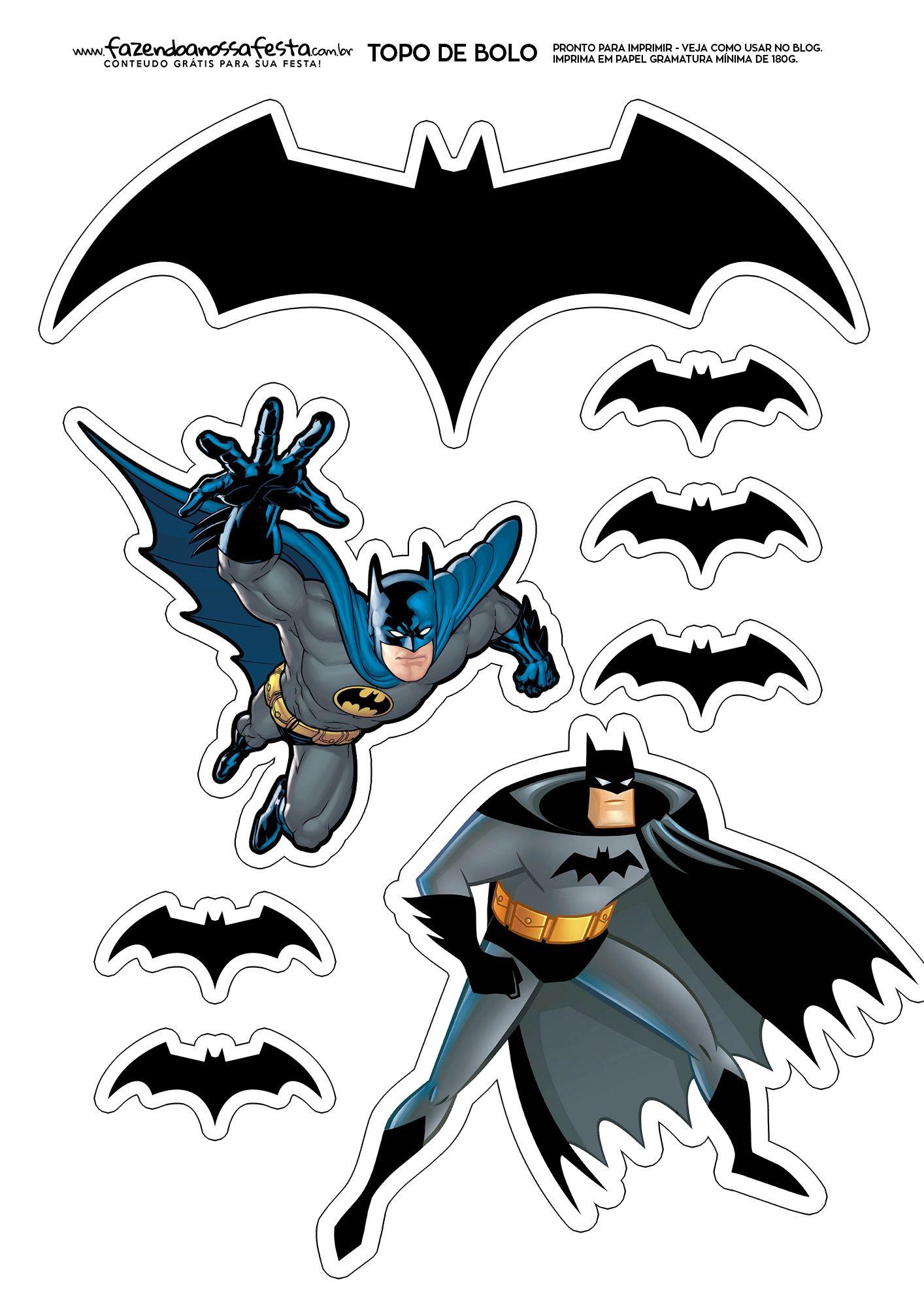 Topo de Bolo Batman | Vorlagen und Sprüche