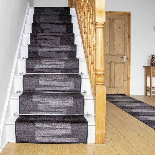Ebern Designs Getufteter Innen-/Außenteppich Benedick in Graphitgrau | Wayfair.de