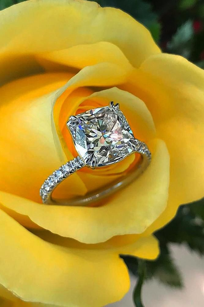 30 Brilliant Cushion Cut Engagement Rings #cushionengagementring