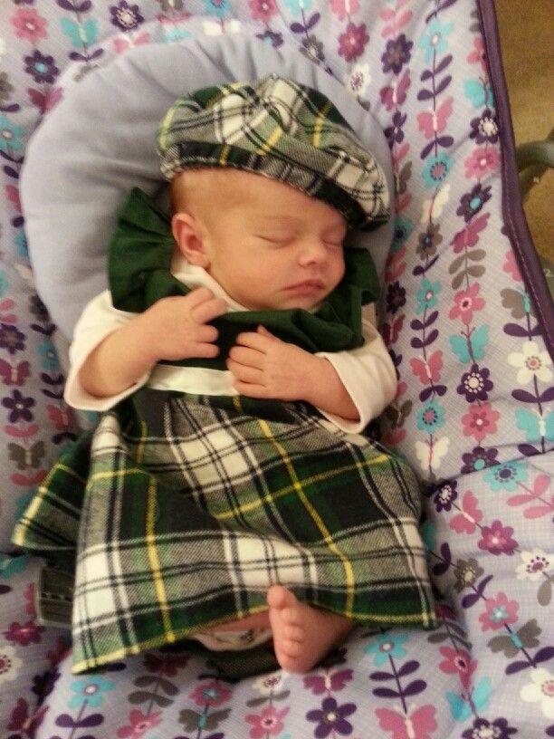 Baby Renaissance Faire Dress Plaid Scottish Dress For Baby