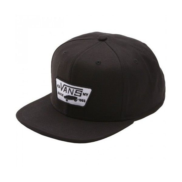 6d00e49b9b6 Vans Full Patch Snapback Hat True Black ( 26) ❤ liked on Polyvore featuring  accessories