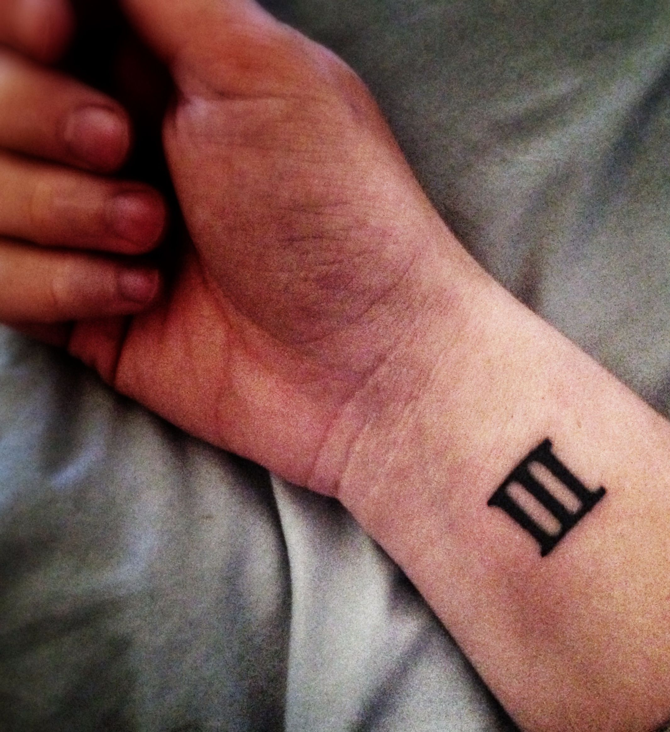 It S Small And Simple But I Really Want A Numeral 3 Tattoo For My