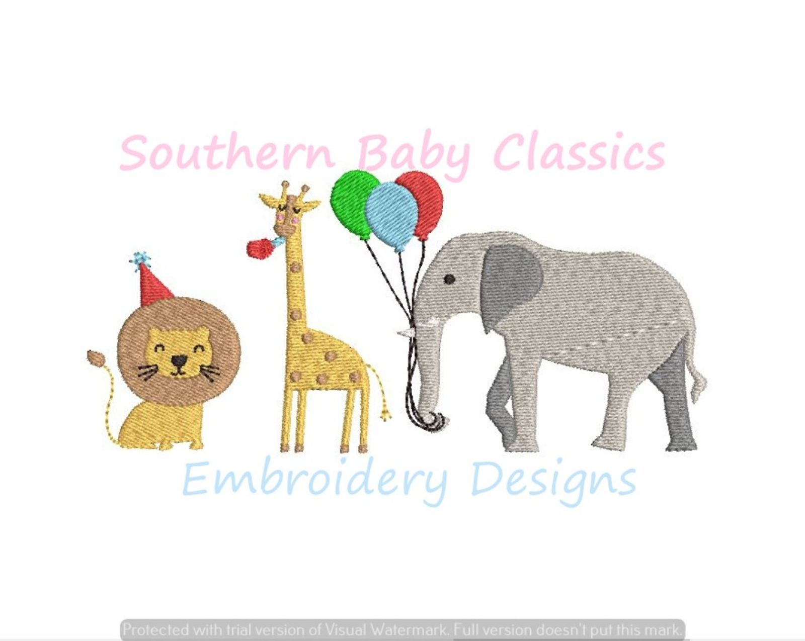 Zoo Safari Birthday Party Animals Birthday Machine Embroidery Design Lion Giraffe Elephant Jungle Machine Embroidery Designs Embroidery Designs Machine Embroidery