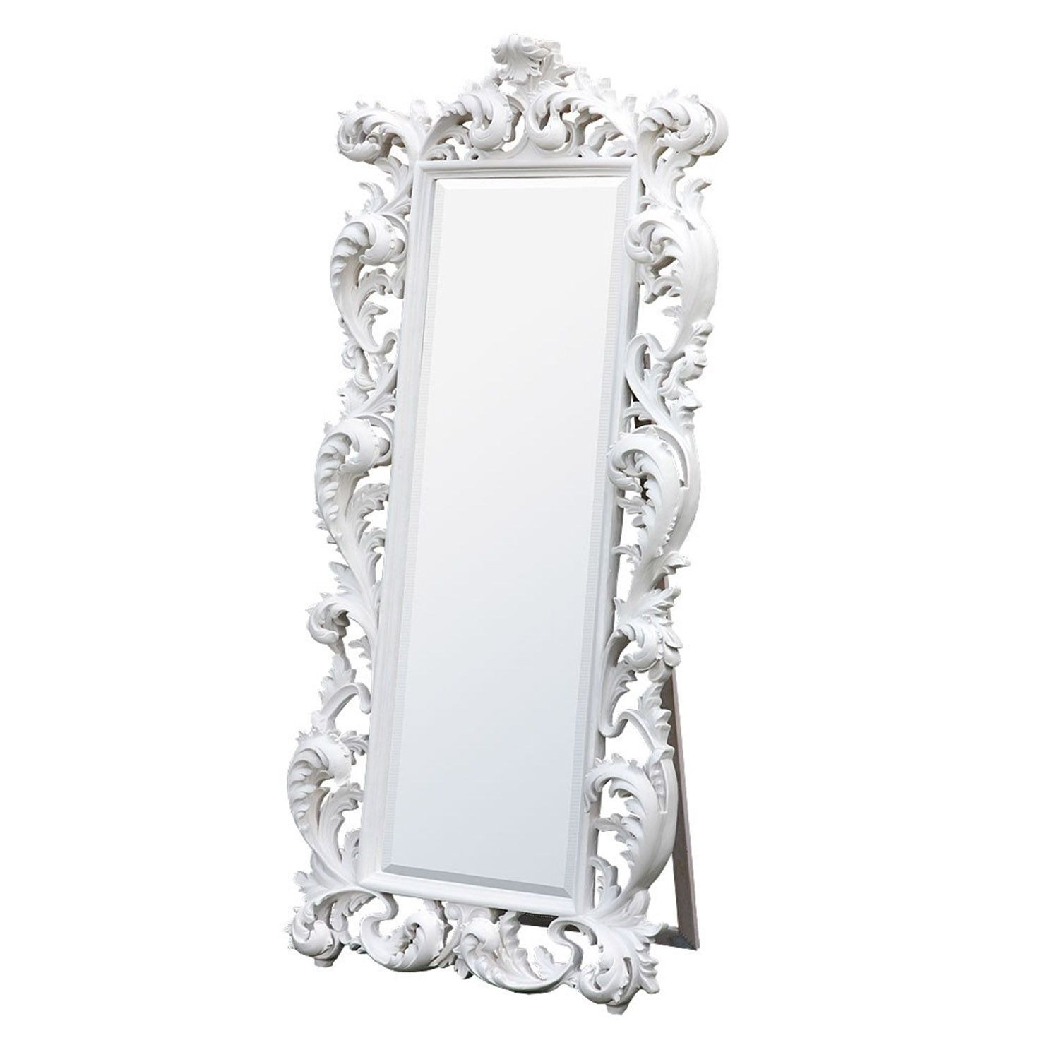 84457039c128a Baroque White Free Standing Mirror