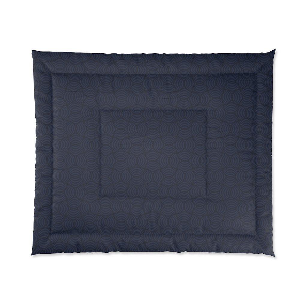 Navy Art Deco Comforter - King: 104 × 88