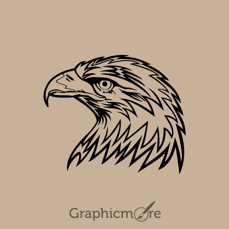 Eagle Head Design Free Vector File , america animal