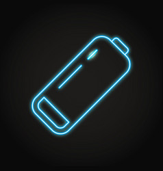 Low Battery Icon In Neon Line Style Vector Image On Vectorstock Battery Icon Neon Icon