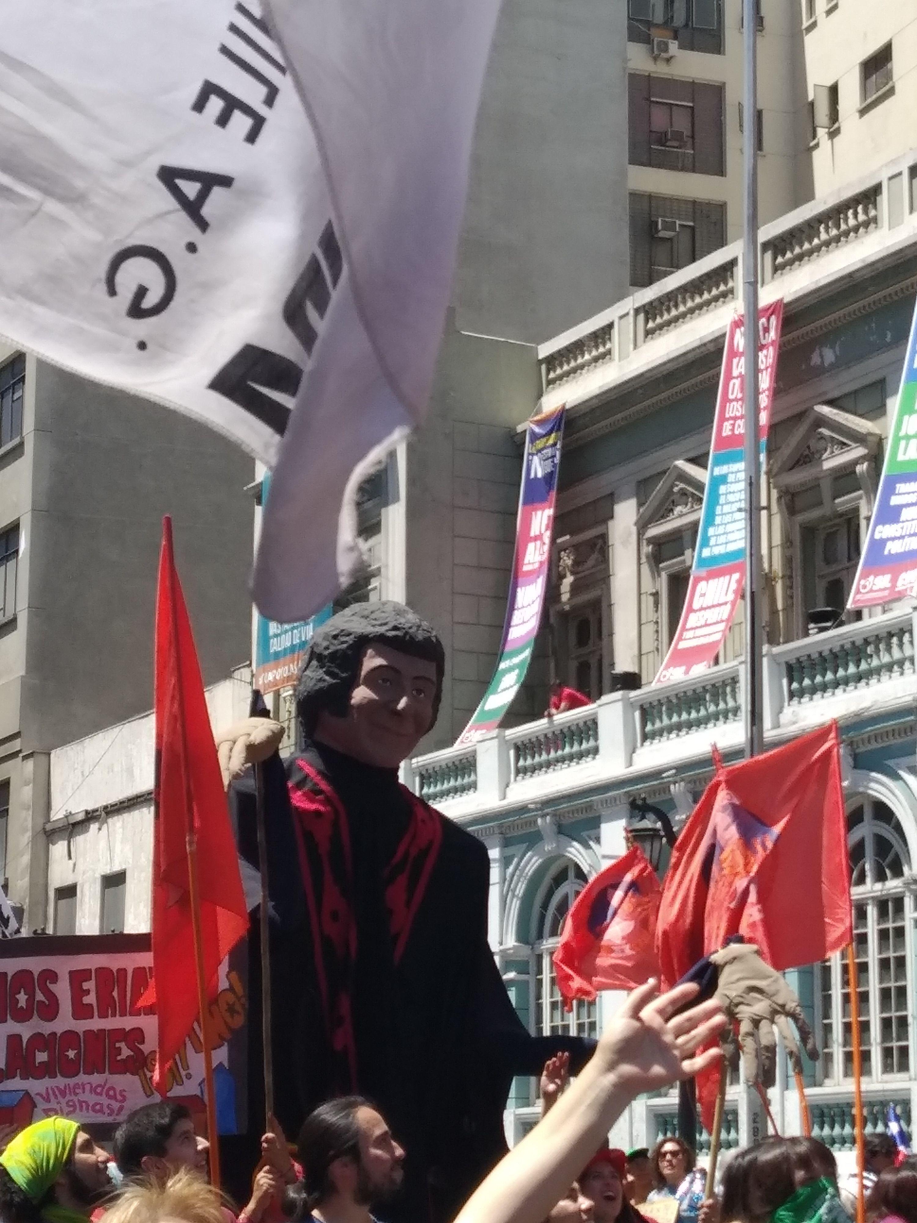 Victor Jara, como simbolo de la lucha del pueblo
