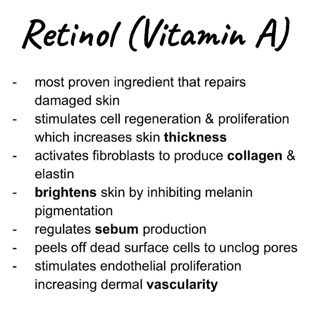 "acid on Instagram: ""Retinol is a powerhouse ingredient of value for many skin conditions: hyperpigmentation, fine lines, uneven skin tone, firmness, oily skin…"""