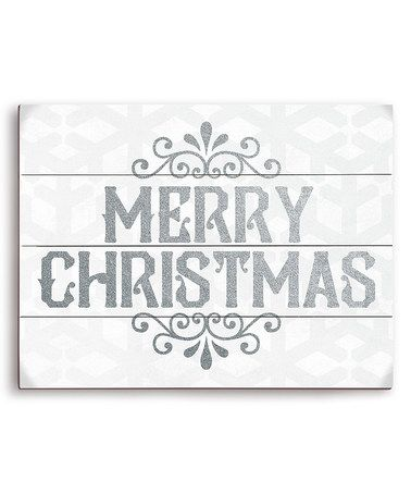 Another great find on #zulily! 'Merry Christmas' Wall Art #zulilyfinds