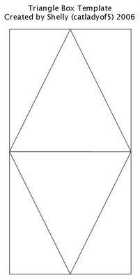 triangle box template 1st birthday pinterest box templates