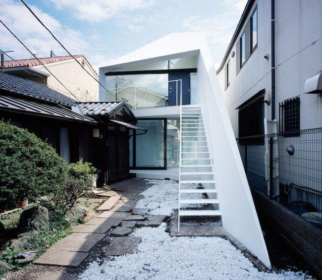 Treppenhaus einfamilienhaus außen  arrow haus apollo architekten tokyo außen treppe | outdoor ...