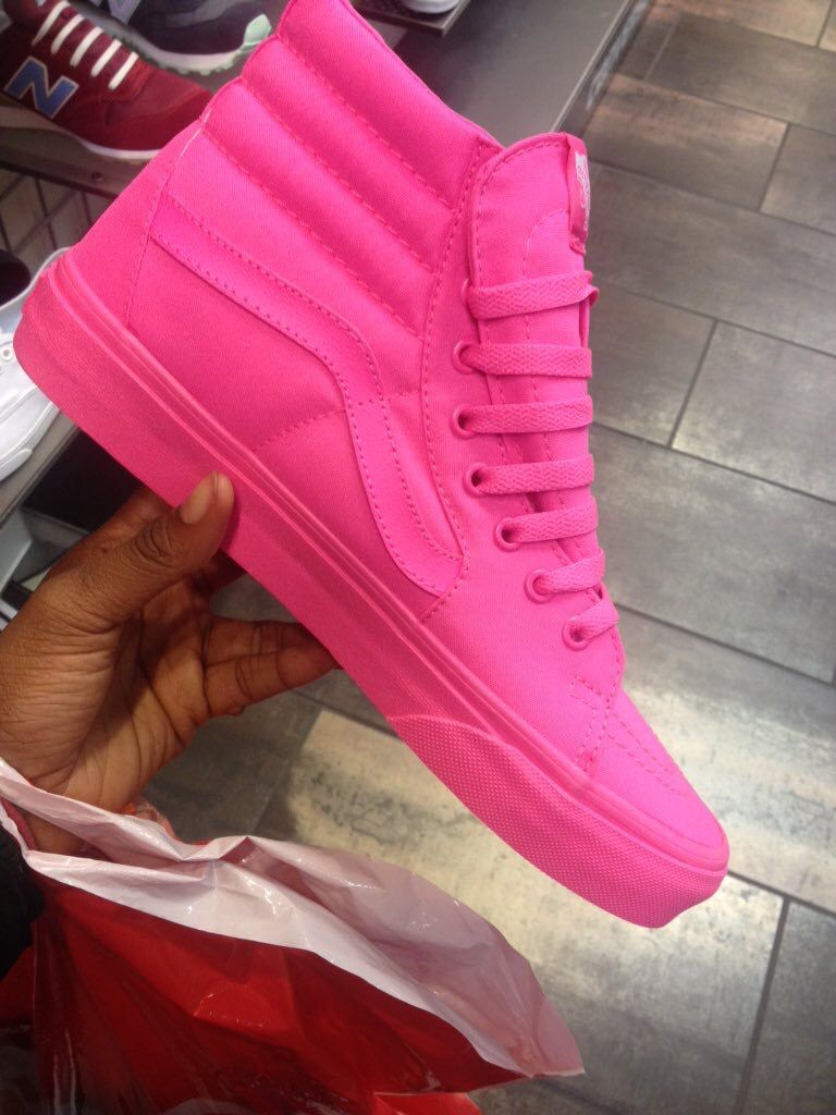 9a714a2d680316 pink high top vans (I Got These for my BDay Today  -) 4 16 )