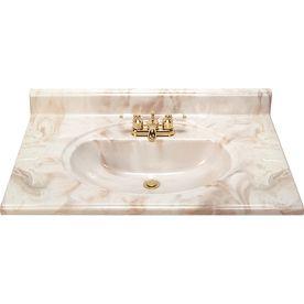 style selections caramel cultured marble integral bathroom vanity rh pinterest com
