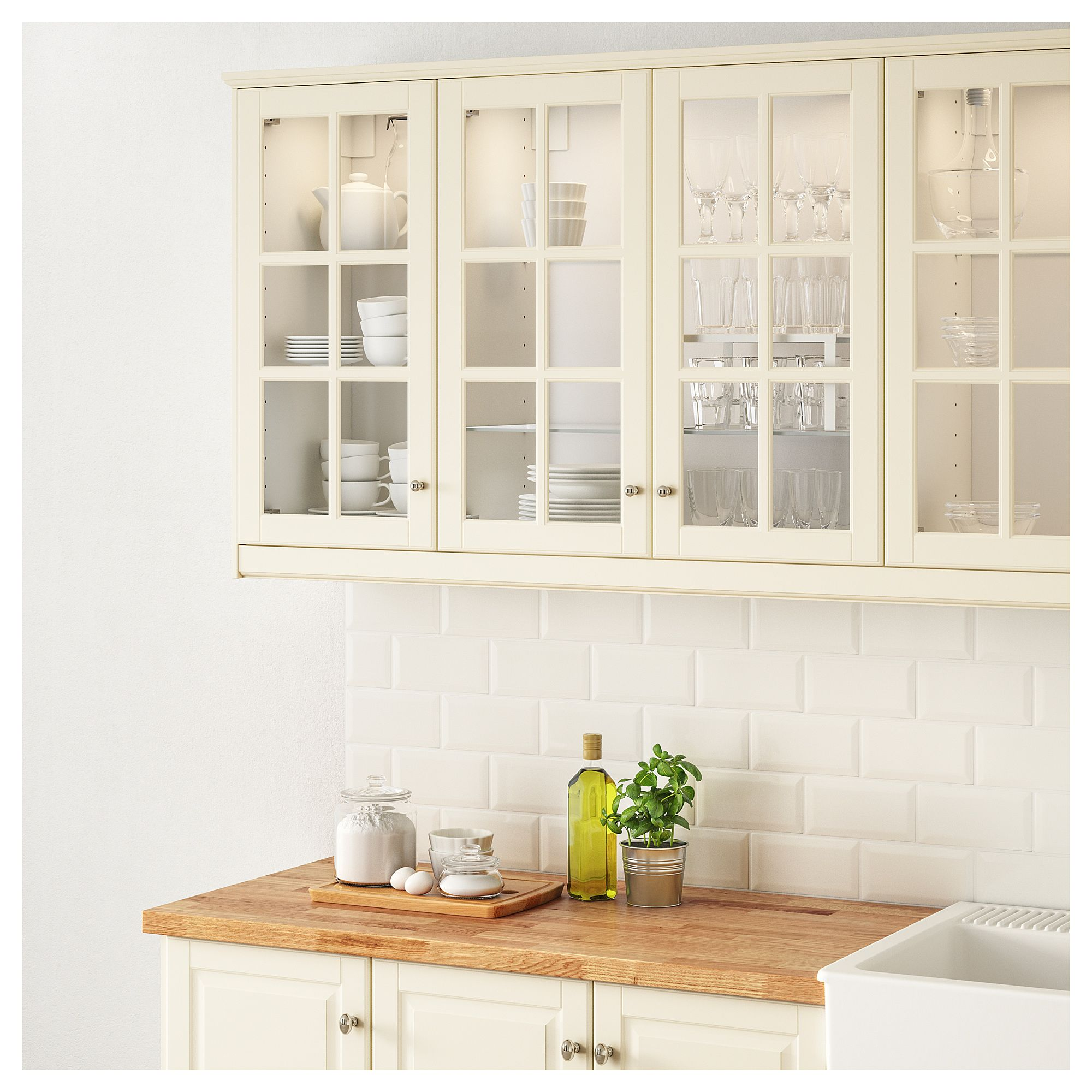 Best Ikea Bodbyn Glass Door Off White Kitchen Design New 400 x 300