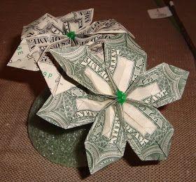 How To Make A Money Origami Flower Money Origami Origami Money Flowers Origami Flowers