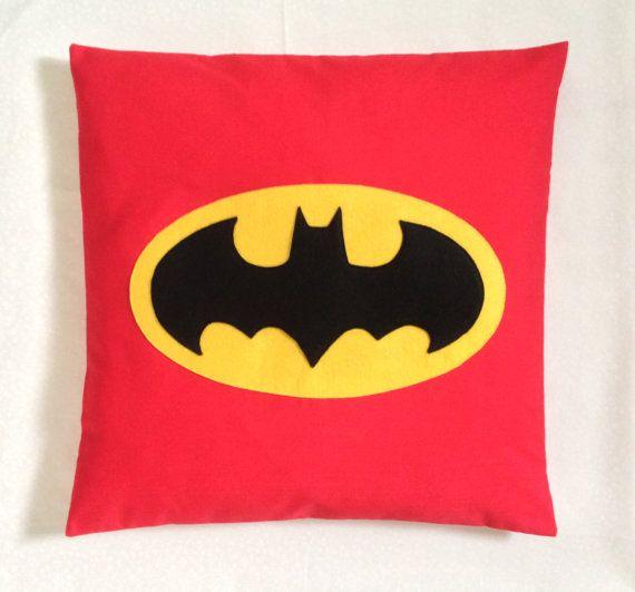 BATMAN Retro Black Grey Superhero Cushion Cover Comic Kids Bedroom 14 to 24 inch