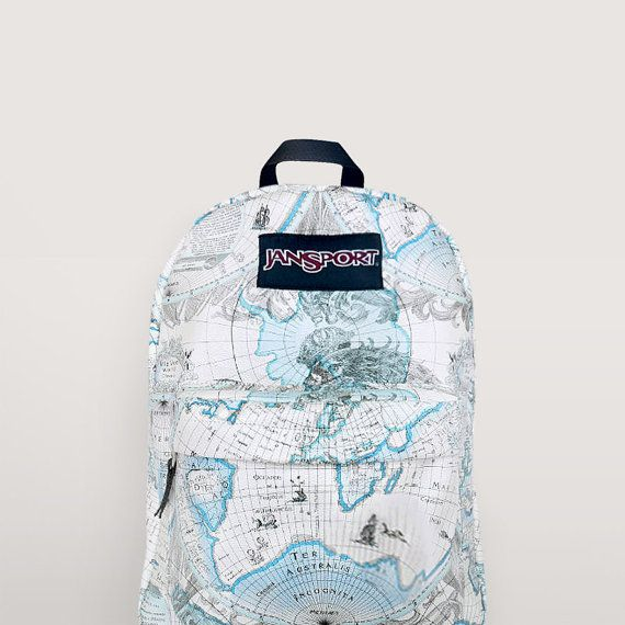 JanSport World Map Backpack   Special Edition on Etsy, $49.99 | 2