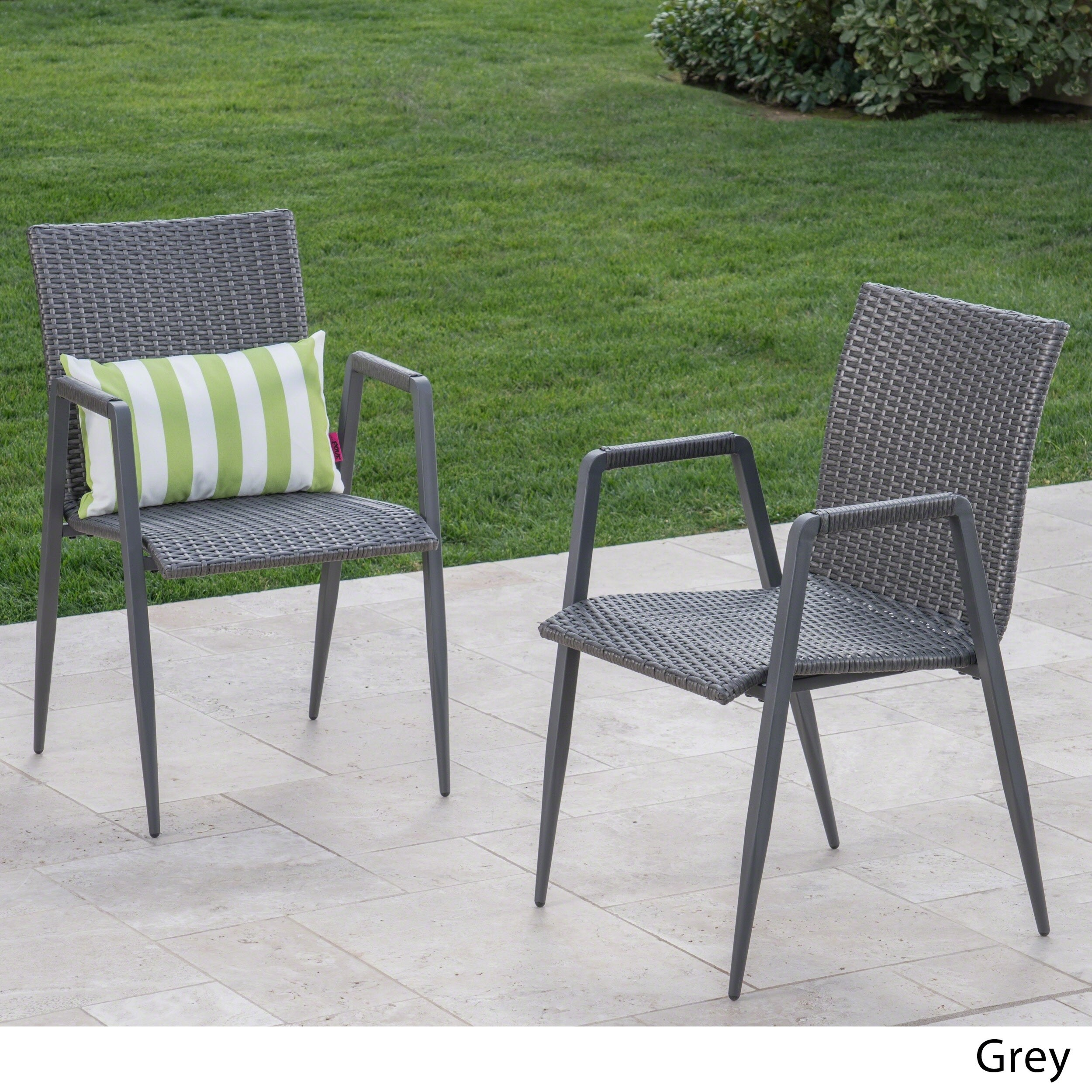 Chelsea Outdoor Wicker Dining Chair (Set Of 2) By Christopher